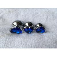 Quality Various Colors Heart Shape Aluminum Alloy Silver Metal Jewelry Expand Anal Plug for sale
