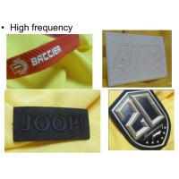 China Branded Name Silicone Clothing Badges Patches , Custom Rubber  Patches Mirco Injection wholesale