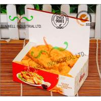 China Coated Paper Display Foldable Cardboard Boxes For Fried Food Products Packaging wholesale