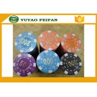 ABS High Quality Poker Chips Dice Striped Plastic Poker Chip With Numbers for sale