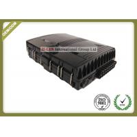 China Black ABS Fiber Optic Termination Box Support Both Mechanical And Fusion Splicing wholesale