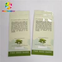 Quality Smell Proof Laminated Mylar Ziplock Stand Up Pouches Clear Custom Printing Logo for sale