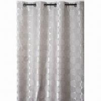 China 100% polyester 1 pass lined blockout curtain, pencil pleat/eyelet/pinch pleats are available wholesale