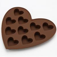 China FDA  Heart Shaped Custom Made Chocolate Molds  -40~230°C Temperature Range wholesale