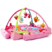 China Flower Happy Garden Pink Baby Play Gyms Baby Activity Play Mat on sale