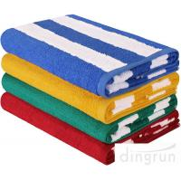 Buy cheap High Absorbency Terry Cotton Stripe Bath Towels Beach Towels For Swimming from wholesalers
