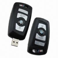 China USB Flash Drives with Car Key Shape Attached, Packed in Gift Boxes  wholesale