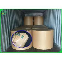 China Stable Quality FSC Certificate Brown Kraft Paper Roll With PE Coated on sale