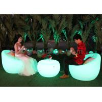 China Plastic LED Outdoor Bar Chairs , SMD 5050 RGB Leisure Plastic Chairs wholesale