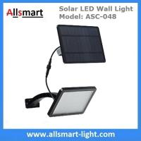 China 18W Solar LED Wall Light with LiFePO4 Battery Separate Solar Panel 3m Wire Adjustable Angle 48LED Solar Garden Light wholesale