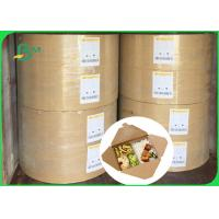 China 30gsm 40gsm FSC food grade one side coated white kraft paper in ream wholesale