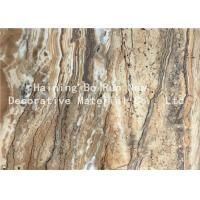 China Dark Color PET Heat Transfer Foil Faux Marble Roll For PS Material Board wholesale
