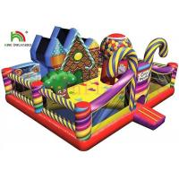 China Candy Theme PVC Blow Up Bouncy Castle Colorful And Amazing Design For Kids wholesale