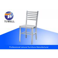 China Outdoor Durable Silver Sturdy Aluminum Navy Chairs With Ladder Back wholesale