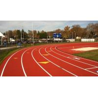 China Spray Coating colorized Waterproof Outdoor Running Track Surface on sale