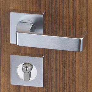 China Easy Installation Mortise Door Lock Zinc Alloy Handle For 38 - 55mm Door wholesale