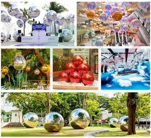 China Mall Decoration Mini Reflective Mirror Disco Ball PVC Rainbow Colorful Big Inflatable Balls Mirror wholesale