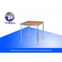China Moisture Proof UV-resistant Aluminum Wooden Table With Curved Edge OEM ODM wholesale
