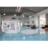 China 4mDia Transparent Clear Inflatable Dome Bubble Camping Tent With Airtight Tunnel wholesale