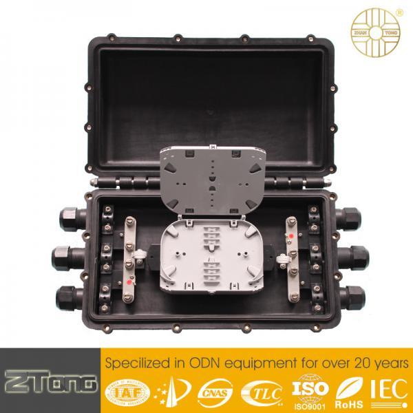 Quality Black Color Fosc Fiber Optic Closure Horizontal Type Φ7—Φ21mm Cable Diameter for sale