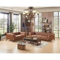 Buy cheap Home Furniture Tan Brown Top Genuine Soft Leather Sofa Set With Multi Deep from wholesalers