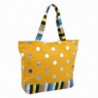 China Promotional Beach Tote Bag, Made of 10A Cotton wholesale