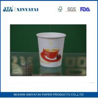 China Disposable PE Coated Double Walled Paper Coffee Cups , Insulated Paper Espresso Cups wholesale