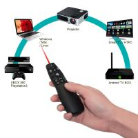 China 2.4GHz RF Wireless Presenter Air Mouse , Laser Pointer Presenter For TV Box wholesale
