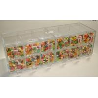 China Custom Acrylic Candy Display Cases Boxes With 12 Drawers For Supermarket wholesale