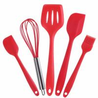 China Food Grade Silicone Kithen tools sets  with 5 different silicone tools wholesale
