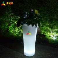 China Lightweight Waterproof Outdoor Garden Decor Led Flower Pot RoHs Standard wholesale