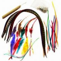 China DIY Make Shany Cosmetics Feather Hair Extension Kit Content with Feather Hair Hook Beads Feather Gri wholesale