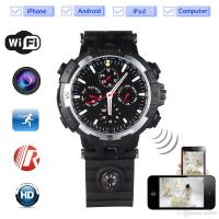 China 32GB memory 720P HD The P2P Wifi Spy Camera watch Wifi Hidden Camera Motion Activated Video Recorder DV Camcorder for IO on sale