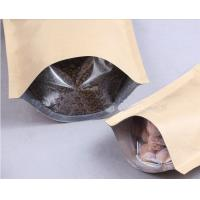 China Custom Printed Kraft Paper Bag With Transparent Window for Coffee Beens wholesale