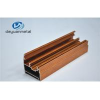 China Wooden Grain Aluminium Extrusion Profile Electrophoresis / Sand Blasting wholesale