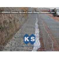 China Zinc Coated Wire Mesh Fence , Stainless Steel Wire Galvanized Hexagonal Gabions wholesale