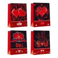 China Customized Luxury Shopping Glossy Paper Bags for Valentine's Day eco-friendly wholesale
