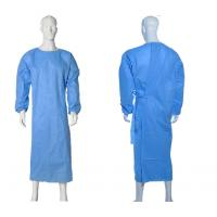 China Isolation Disposable Medical Gowns , Disposable Plastic Gowns PP Material wholesale