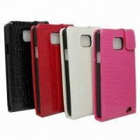 China Leather Mobile Phone Cases for Samsung Galaxy S2 I9100 wholesale