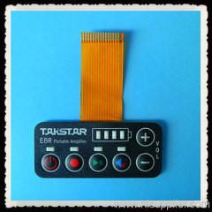 China LED Light PCB Membrane Switch Panel / Membrane Keypad Switch on sale