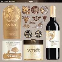 China Birthday Wine Sticker Labels Embossed Printing Paper For Wine Glass Bottles wholesale