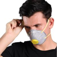 Buy cheap N95 Activated Carbon Cup FFP2 Mask , Disposable Nonwoven Dust Mask With Valve from wholesalers