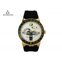 Alloy Shell Classic Mens Wrist Watches With Silicone Strap Popular Design