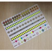 China Gold Jewelry Metallic Temporary Tattoos Stickers Neon Color Semi Permanent wholesale