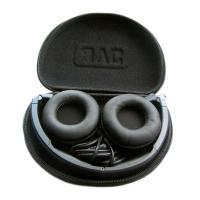 China Oval Hard Shell EVA Headphone Case Velvet Lining Inside Box For Electronic Accessories on sale
