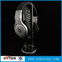 Quality clear round base holder earphone clear acrylic holder for earphone wholesale for sale