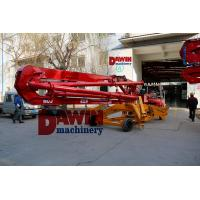 China 13m 15m 17m trailer mobile spider concrete placing boom work with concrete pump for construction jobs wholesale