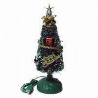 China Christmas Gift/Gleamy Christmas Tree, Powered by 5V Voltage and Sized 254 x 80 x 80mm wholesale