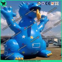 China 3m High Cute Blue Inflatable Dragon Cartoon For Giant Event , Event Inflatable Model wholesale
