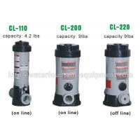 China Plastic Chlorine Feeder Automatic Pool Dosing Systems For Chemicals Grey Color wholesale